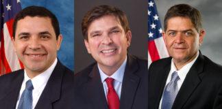 Congressmen Henry Cuellar (TX-28), Vicente Gonzalez (TX-15), and Filemon Vela (TX-34)