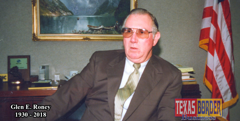 Glen Roney at his office in Kerria Plaza. The interview was extensive about the importance of banking and the maquila industry, which was known as the twin plant concept. At the time, it was directed under the McAllen Industrial Foundation (MIB). Photo by Roberto Hugo Gonzalez
