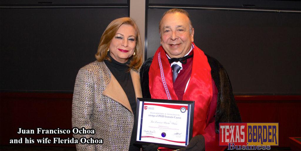 "Dr. Juan Francisco ""Pancho"" Ochoa and his wife Flérida Ochoa at Harvard Law School in Massachusetts."