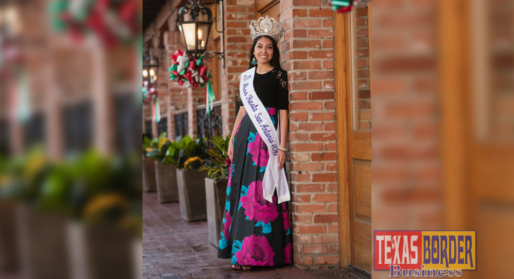 UTRGV alumna and San Antonio native Victoria Gonzalez was crowned Miss Fiesta San Antonio 2019. Gonzalez graduated magna cum laude from UTRGV in May 2018 with a Bachelor of Science degree in Biology. She said she always knew she wanted to go into the health field and was grateful for the opportunities she was presented at UTRGV. Now, as Miss Fiesta, she is committed to helping the community. (Courtesy Photo)