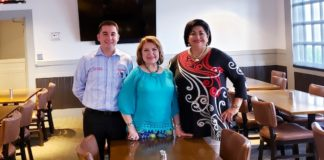 Shown meeting to finalize the Power Speed Networking event from left to right are Richard Guevara, Tony Roma's general & catering manager; Adelita Munoz, RGVHCC board member and Cynthia M. Sakulenzki, RGVHCC Pres/CEO.