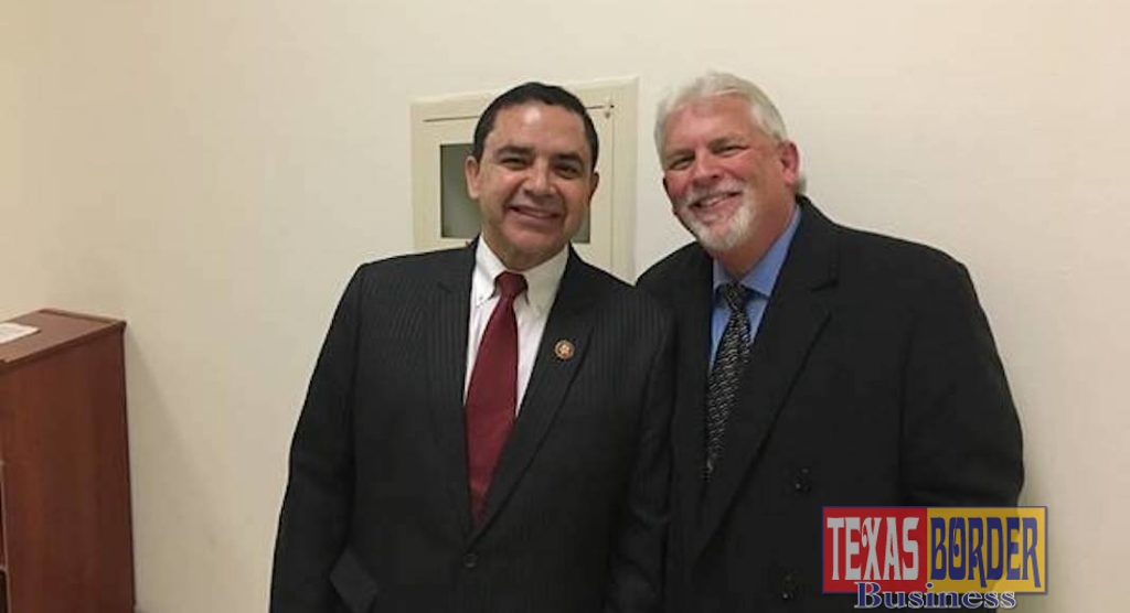 Caption: Congressman Henry Cuellar (TX-28) meets with Dale Murden of Texas Citrus Mutual in Washington to discuss issues pertaining to the citrus industry.
