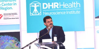 Dr. Juan M. Padilla, neurosurgeon and Chair of the DHR Health Neuroscience Institute. Photo by Roberto Hugo Gonzalez.