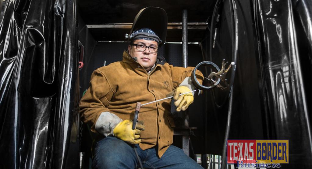 STC's Welding Program prepares students like Celso Olivares for the workforce. Students learn four processes of welding including Shielded Metal Arc Welding, Gas Metal Arc Welding, Gas Tungsten Arc Welding, and Flux Cored Arc Welding.