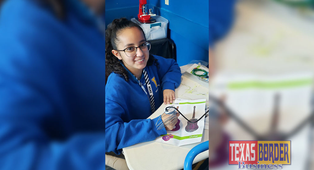 Boys & Girls Clubs of Edinburg RGV member Itzel Padron, learns how to use a 3-D pen as a part of the STEM Mentoring Makerspace.