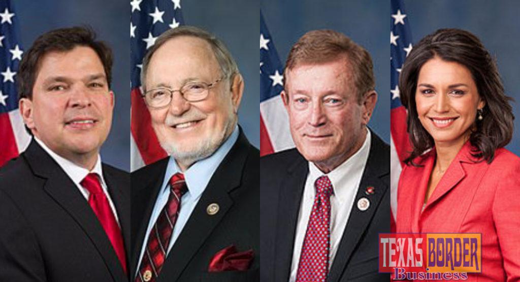 Congressmen Vicente Gonzalez (TX-15), Don Young (AK-At Large), Paul Cook (CA-08) and Congresswoman Tulsi Gabbard (HI-02)