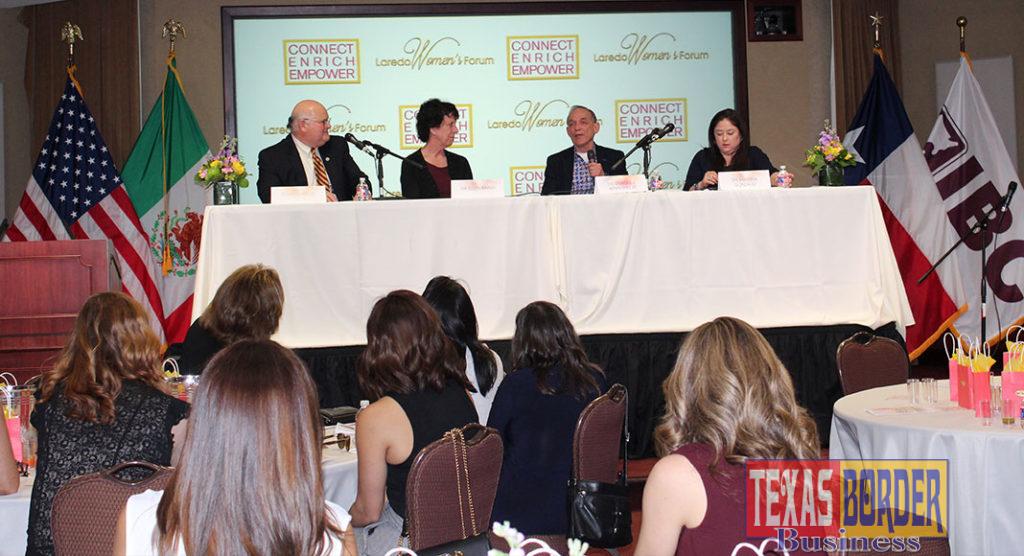 Laredo Womens Forum Panel Left to Right: Elmo Lopez Jr., Dr. Ellen Baker, Dr. Enrique F. Benavides Jr., Dr. Marissa R. Gonzalez.
