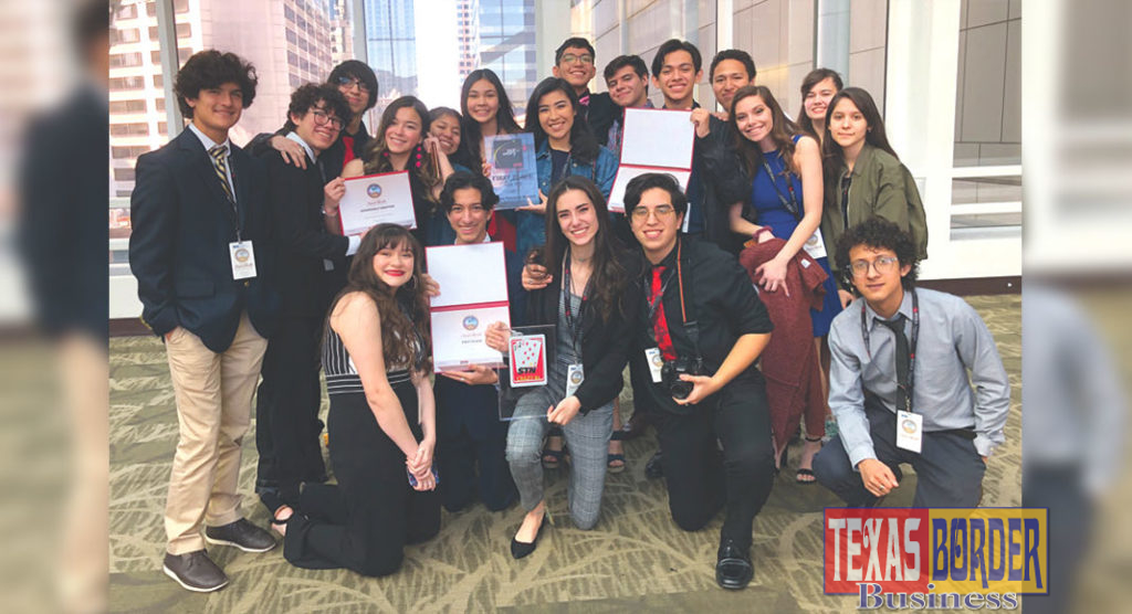 Pictured are students from McAllen ISD's Video Production course (known by the call letters KMAC) who competed in the Student Television Network National Contest held March 27-31 in Seattle, Washington. KMAC won two first-place awards and one fourth-place prize.