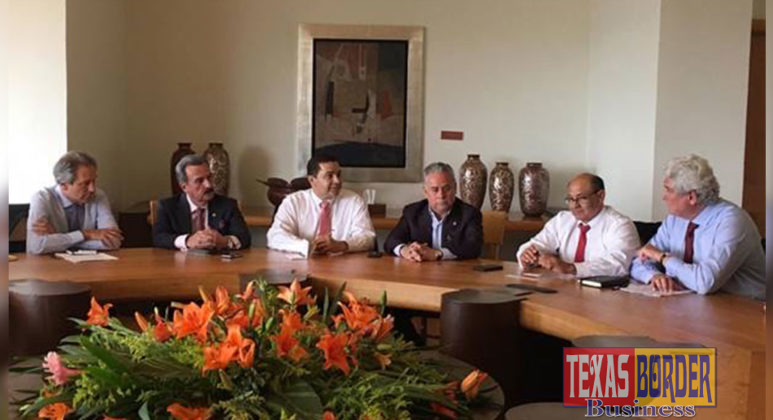 Congressman Henry Cuellar (TX-28) attends a meeting between members from the U.S. delegation and the Mexican government with representatives from the business community to talk about trade, USMCA and the bilateral relationship between the U.S. and Mexico. Pictured from left to right: Chairman of the Mexican Business Council (CMN) Antonio del Valle, member from the trade community from Laredo Eduardo Garza, U.S. Congressman Henry Cuellar, Mexican Congressman representing Nuevo Laredo Salvador Rosas, U.S. Congressman Luis Correa and GAMSA, Chairman of the Board Juan Gallardo Thurlow.