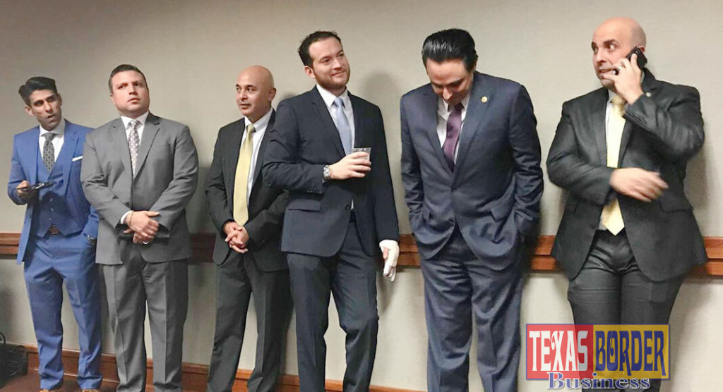 "Featured, from left: Rep. Eddie Lucio, III, D-Brownsville; Rep. Sergio Muñoz, D-Mission; Rep. Alex Domínguez, D-Brownsville; Rep. Óscar Longoria, D-La Joya; Rep. Terry Canales, D-Edinburg; and Rep. Armando ""Mando"" Martínez, D-Weslaco. Photo Courtesy REP. ARMANDO ""MANDO"" MARTÍNEZ"