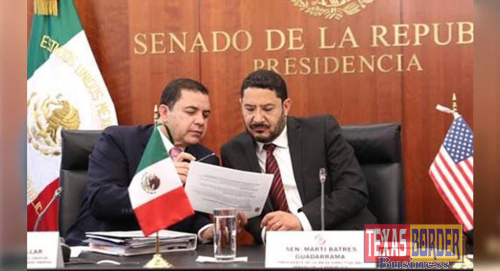 Congressman Henry Cuellar (TX-28) meets with Mexican Senate Leaders to discuss a variety of topics including USMCA. Pictured from left to right (top photo): Congressman Henry Cuellar and Senator Marti Batres Guadarrama