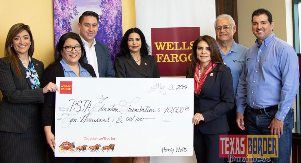 President Alma Ortega Johnson presents a $10K grant to the Pharr-San Juan-Alamo Education Foundation. Wells Fargo has a long track record of supporting the community in many aspects. For some time, these activities were suspended and appears that they are coming back. Extraordinary and congratulations!