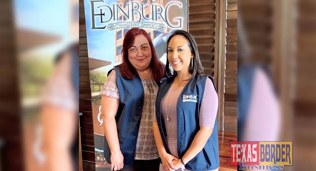 Pictured L to R: Letty Flores (Edinburg Chamber Ambassador – The Monitor), Mae Vela (Edinburg Chamber Ambassador – Bob's Steak & Chophouse)