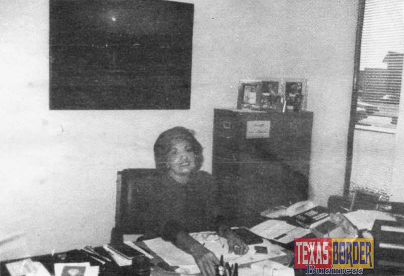 Ana Bergh, Chief of Staff of Rio Radio Supply Co. Her spare time is dedicated to civic activities. She is a very dynamic woman. Photo by Roberto Hugo Gonzalez Dec. 1985.