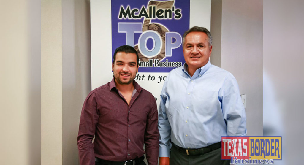 Pictured left to right: Jorge Sanchez, Vice President of Business Development and Start-ups; Richard Longoria, BML.
