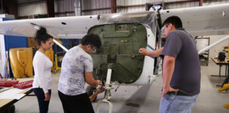 TSTC is one of only a dozen colleges in Texas certified by the Federal Aviation Administration (FFA) to train aviation maintenance technicians.