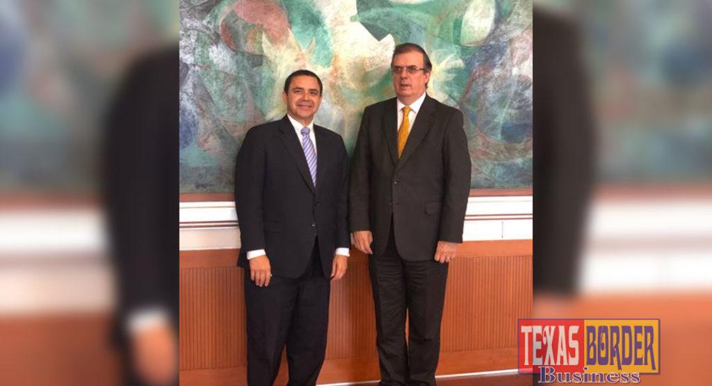 Congressman Henry Cuellar (TX-28) met with Mexican Secretary of Foreign Affairs Marcelo Ebrard