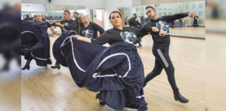 """The newly formed UTRGV Ballet Folklórico Alumni company will join the internationally recognized UTRGV Ballet Folklórico to present """"Leyendas,"""" a one-night show in which the cultural magic of the past and present will merge. All the alumni dancers were part of the folklórico company during their college years at UTRGV and its legacy institutions, UT Pan American and UT Brownsville-TSC. The company first came together for a show to honor Francisco Muñoz, who was longtime director of the program and retired last year. """"Leyendas"""" is taking place at 7:30 p.m. Friday, Aug. 30, at the UTRGV Performing Arts Complex on the Edinburg Campus. (UTRGV Photo by Paul Chouy)"""