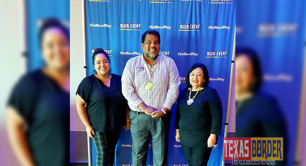 Shown meeting to discuss the upcoming Manic Monday Mixer are left to right:  Melissa Tejada, Main Event Events Manager; Rob Neagle, General Manager and Estela Salazar, RGVHCC Membership & Events Manager.