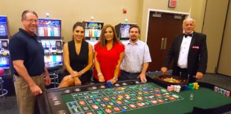 Pictured L-R: Weslaco Chamber Board members Daryl Smith, Smith Security Group; Mari Aviles, Valley Grande Institute, Vangie Saenz, Vantage Bank; Travis McDaniel, Valley Trophies and Gene Denby, RGV Las Vegas Nights.