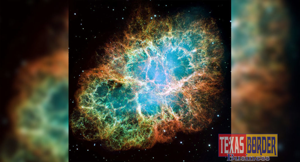 The mosaic image above was taken by NASA's Hubble Space Telescope of the Crab Nebula, a six-light-year-wide expanding remnant of a star's supernova explosion. (Image Credit: NASA)