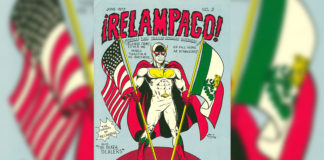 """Relampago"" created by Judge Margarito C. Garza with art by Sam G. González, 1977. The work of five artists will be featured in a month long exhibit at STC's Pecan Campus Rainbow Room Sept. 15 – Oct. 15."