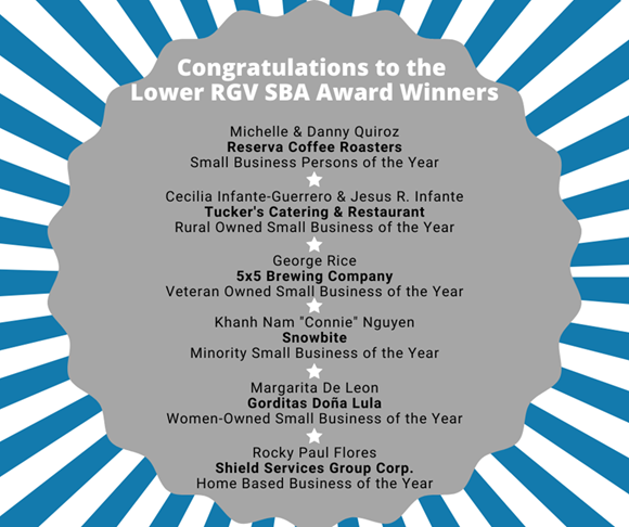 Lower RGV SBA Award Winners