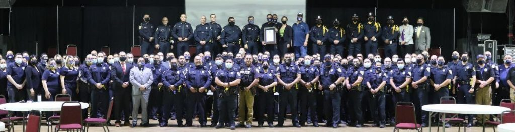 Pharr Police Force at the CARE Announcement on November 10, 2020