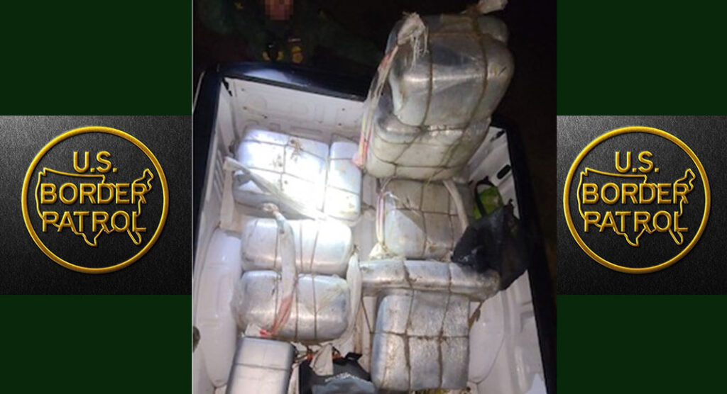 Boder Patrol Agents seize a large load of illegal drugs recently. Images courtesy of U.S. Customs and Border Protection.