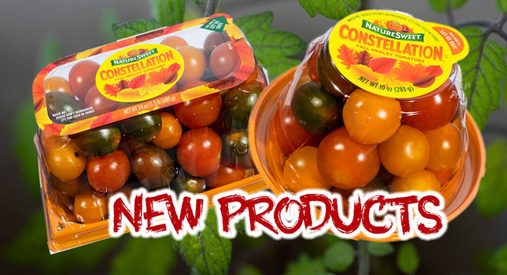 NatureSweet is introducing CONSTELLATION™ Fall Medley 10oz and 24oz packs to the line-up for tomato lovers looking to add sweetness and vibrancy to their fall snacking and mealtimes. NatureSweet Images.