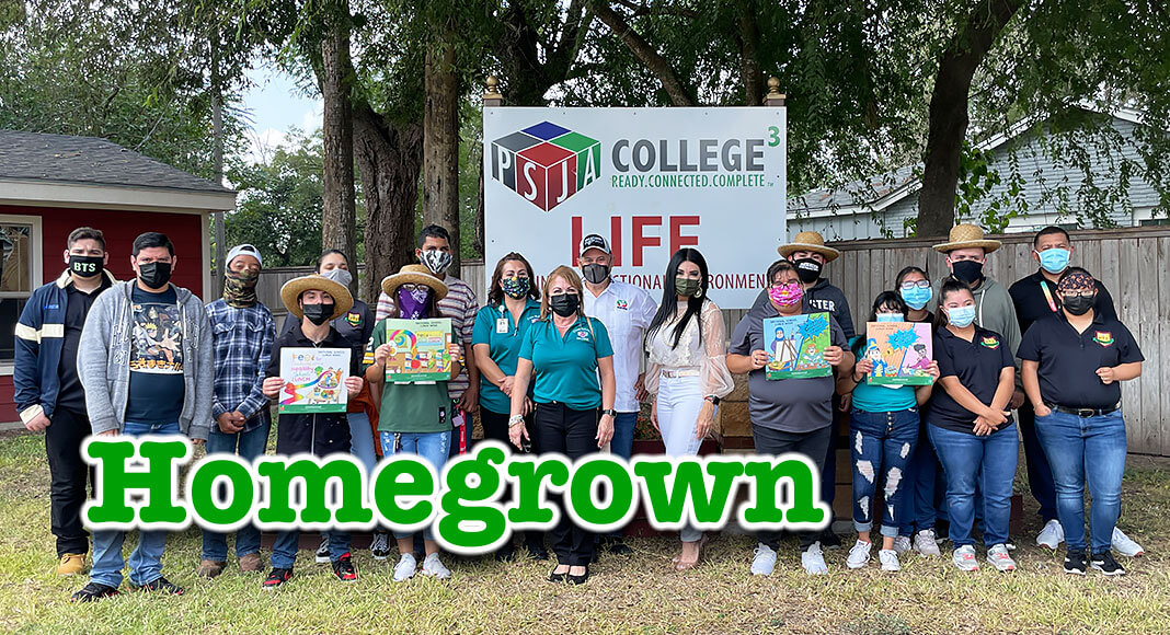Currently, the PSJA Child Nutrition Programhas been workingclosely with students in thePSJA PTI Programto expand the initiative andhelpstart gardens at variouscampuses. Pictured are some of he individuals from PSJA that make the program possible. PSJA ISD Image