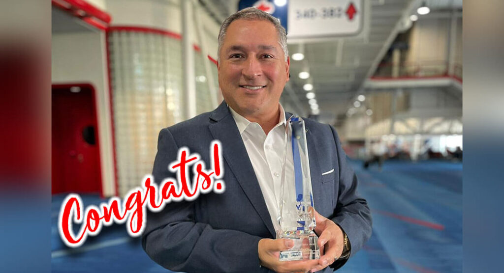 Mayor Villalobos is pictured with the 2021 Municipal Excellence Award in Management Innovations for Cities Over 25,000 in population. City of McAllen Image
